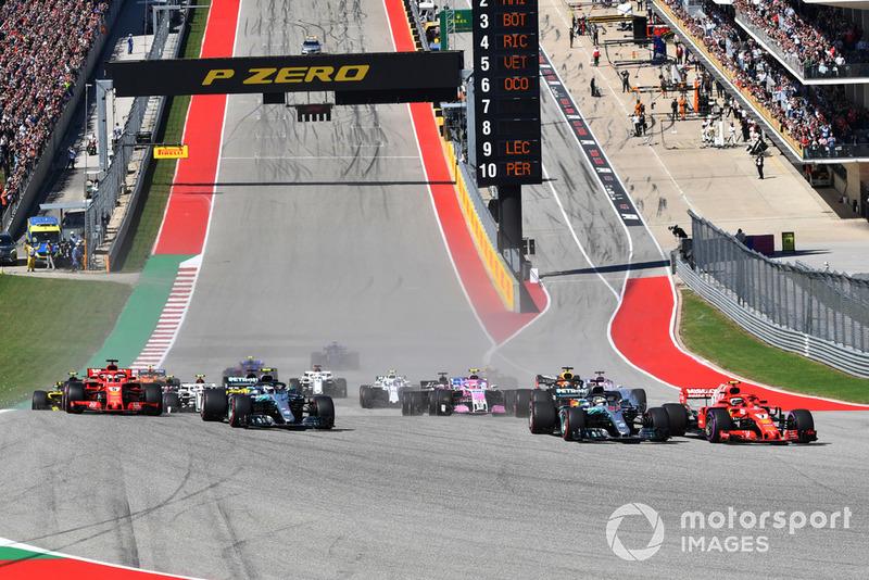 Кімі Райкконен, Ferrari SF71H, Льюіс Хемілтон, Mercedes-AMG F1 W09