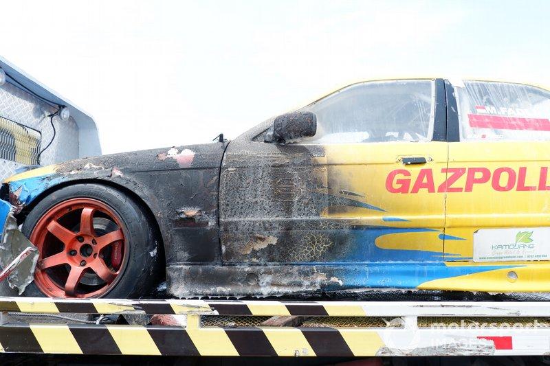 Kerusakan pada mobil M Fadli Immammuddin, STC Divisi 1