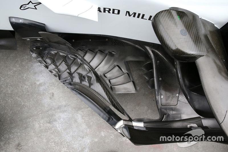 Vue détaillée d'un déflecteur de Haas F1 Team VF-18