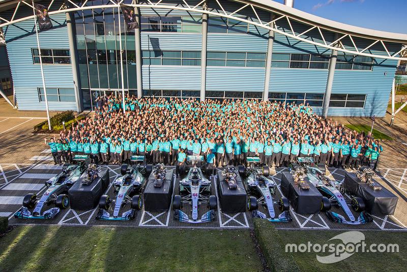 Празднования в Mercedes AMG F1