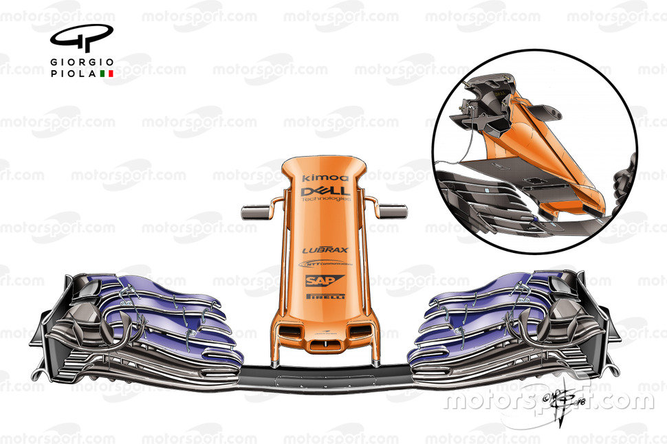 McLaren MCL33 front nose Spanish GP