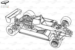 Williams FW08 1982 detailed chassis view
