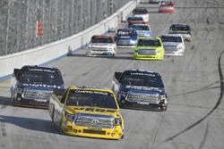 Cody Coughlin, ThorSport Racing Toyota, Noah Gragson, Kyle Busch Motorsports Toyota, Harrison Burton