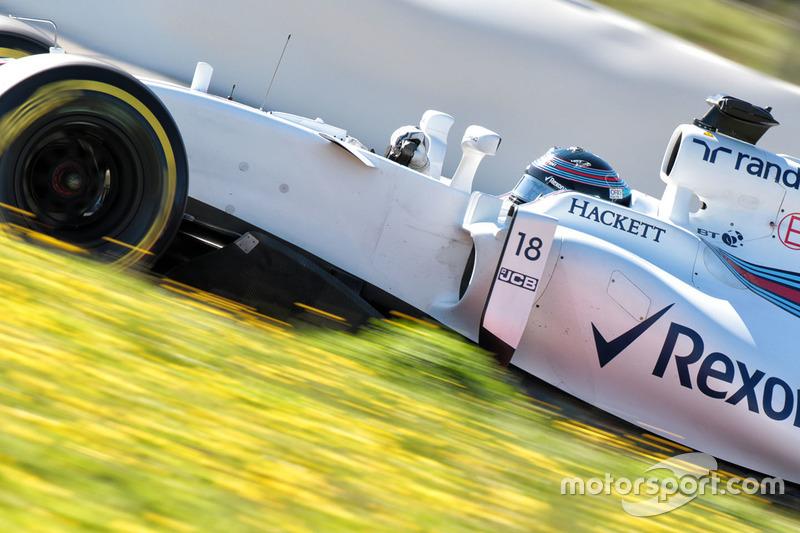 13º Lance Stroll, Williams FW40, 1:22.351, blandos, (120 vueltas)
