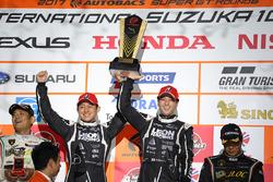 Podium GT300: race winners #65 K2 R&D Leon Racing Mercedes SLS AMG GT3: Haruki Kurosawa, Naoya Gamou