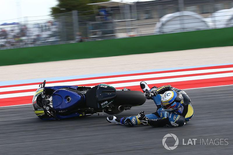 Xavi Vierge, Tech 3 Racing crash