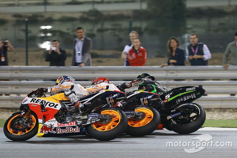Dani Pedrosa, Repsol Honda Team; Marc Marquez, Repsol Honda Team; Johann Zarco, Monster Yamaha Tech 3
