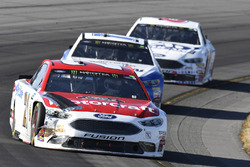 Ryan Blaney, Wood Brothers Racing Ford, Ricky Stenhouse Jr., Roush Fenway Racing Ford, Trevor Bayne, Roush Fenway Racing Ford