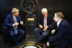 Paolo Gentiloni, Prime Minister of Italy, Tronchetti Provera and Jean Todt, FIA President