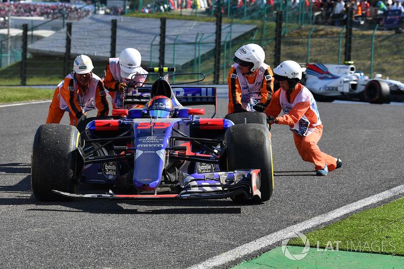 Ausfall: Carlos Sainz Jr., Scuderia Toro Rosso STR12