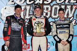Winner Christopher Bell, second place Daryn Pittman, third place Justin Grant
