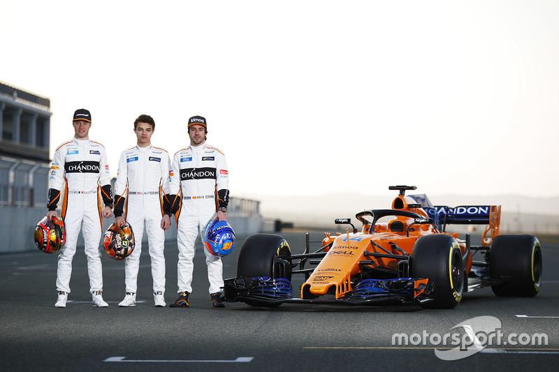 Stoffel Vandoorne, Fernando Alonso, Lando Norris, McLaren