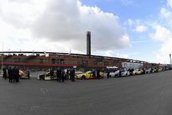 Cars await inspection