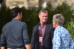 Mark Webber, David Coulthard, Channel Four TV Commentator and Eddie Jordan, Channel 4 F1 TV