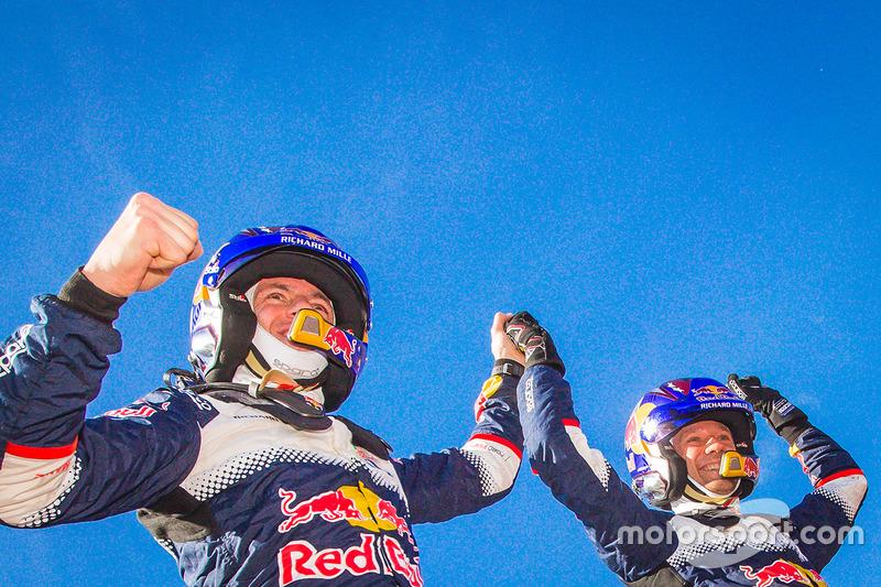 Los ganadores del Rally de MonteCarlo 2018, Sébastien Ogier, Julien Ingrassia, Ford Fiesta WRC, M-Sport Ford