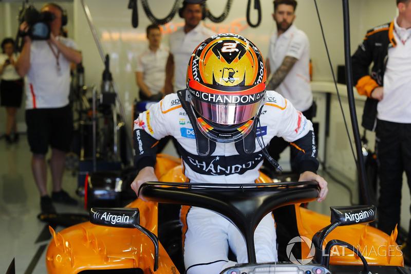 Stoffel Vandoorne, McLaren, masuk kokpit