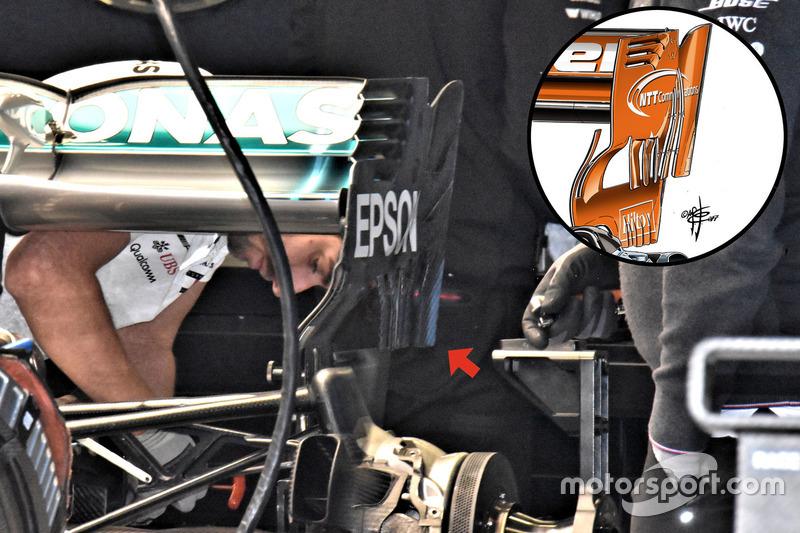 Mercedes AMG F1 W09 achtervleugel