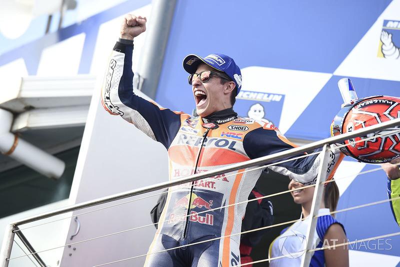 Podium ganador Marc Marquez, Repsol Honda Team