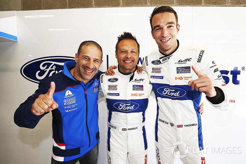 GTE ganadores de la pole #67 Ford Chip Ganassi Racing Ford GT: Andy Priaulx, Harry Tincknell, Tony Kanaan