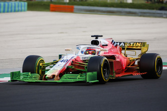 Robert Kubica, Williams FW41, avec de la peinture flow-viz