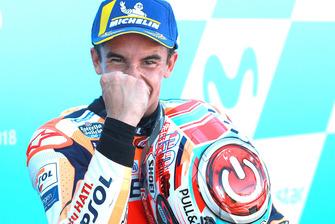 Podium: Winnaar Marc Marquez, Repsol Honda Team