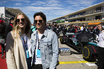 Singer Emma Deign and Actor James Marsden on the grid