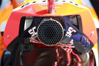L'échappement de la moto de Marc Marquez, Repsol Honda Team