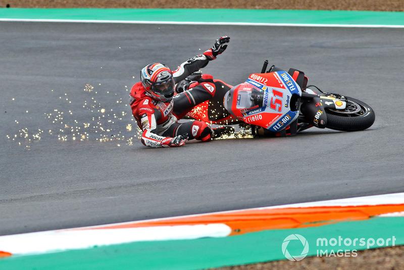 Michele Pirro, Ducati team (6 kecelakaan)