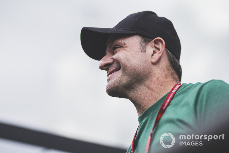 Rubens Barrichello on the drivers parade
