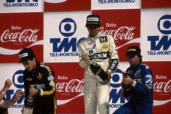 Podium: 1. Nelson Piquet, 2. Ayrton Senna, 3. Jacques Laffite