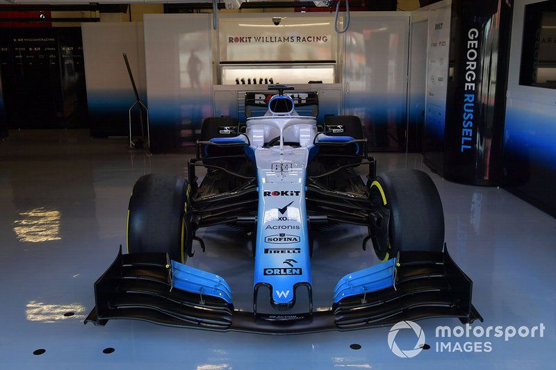 Williams FW42 in the Williams Racing garage