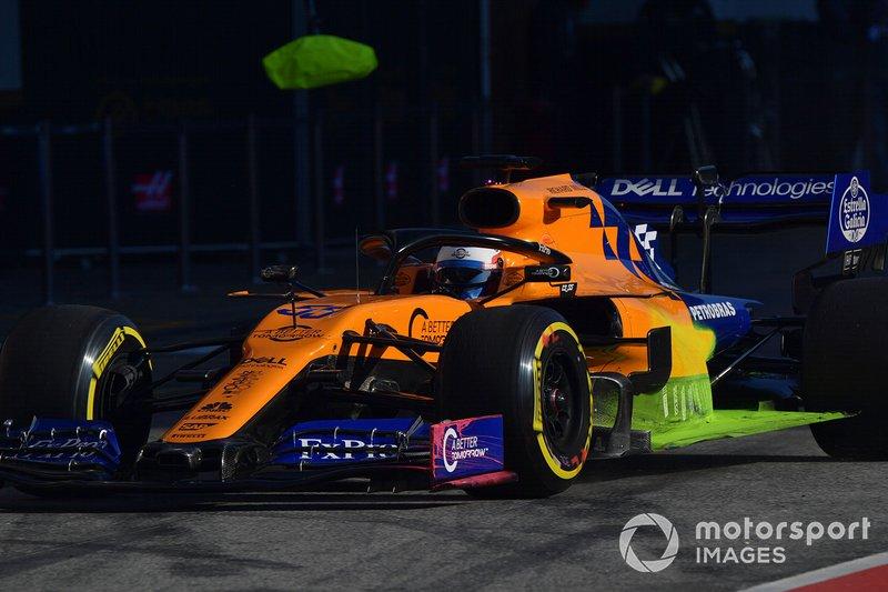 McLaren MCL34 con parafina