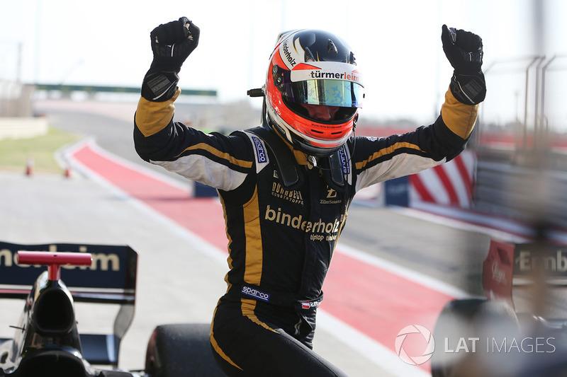 Il vincitore della gara Rene Binder, Lotus