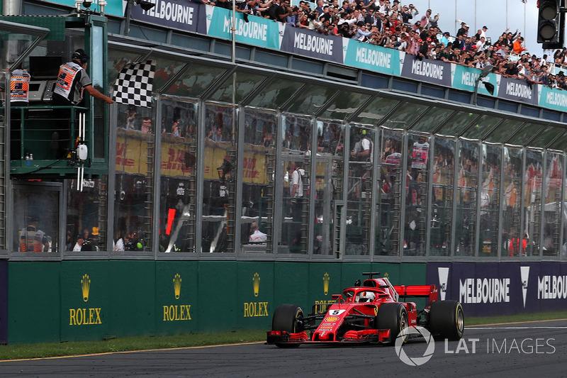 Финиш: Себастьян Феттель, Ferrari SF71H