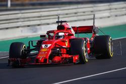 Sebastian Vettel, Ferrari SF71H, con sensores aerodinámicos