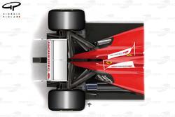 Ferrari F2012 and F150 top views comparison