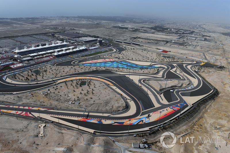 Vista aérea del circuito internacional de Bahrein