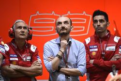 Davide Tardozzi, Team manager Ducati Team, Claudio Domenicali, CEO Ducati, Michele Pirro, Ducati Team