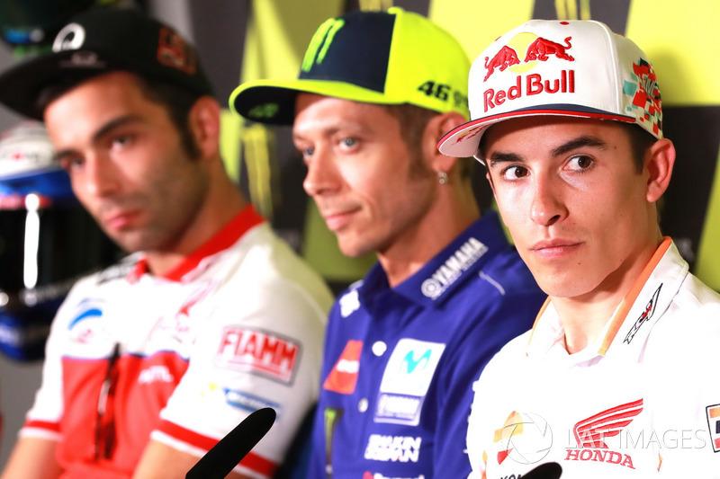Даніло Петруччі, Pramac Racing, Валентино Россі, Yamaha Factory Racing, Марк Маркес, Repsol Honda Team