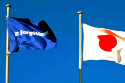BorgWarner and Japanese flags