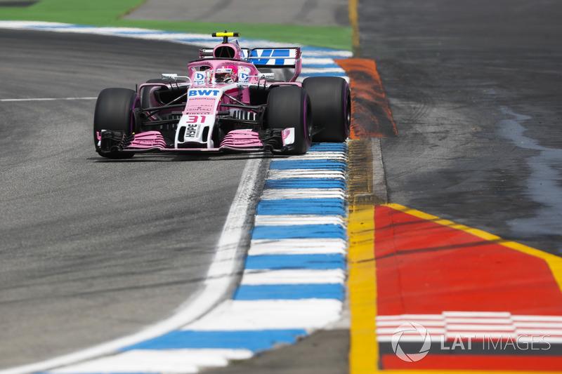 15: Esteban Ocon, Force India VJM11, 1'13.720