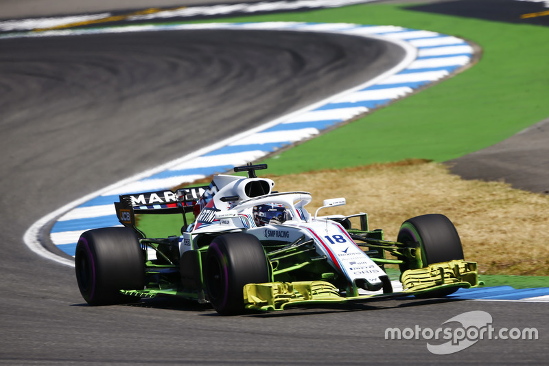 Lance Stroll, Williams FW41, con parafina