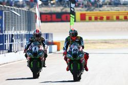 Yarış galibi Jonathan Rea, Kawasaki Racing, Tom Sykes, Kawasaki Racing