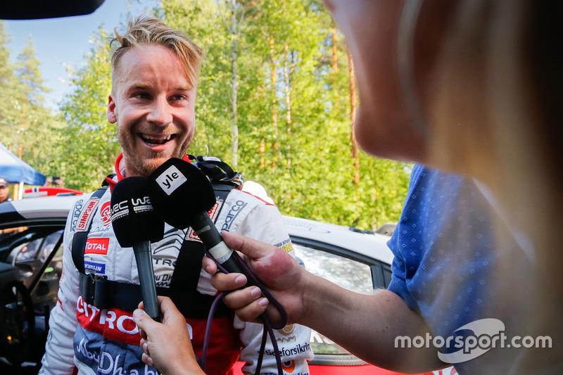 Il secondo classificato Mads Ostberg, Citroën World Rally Team
