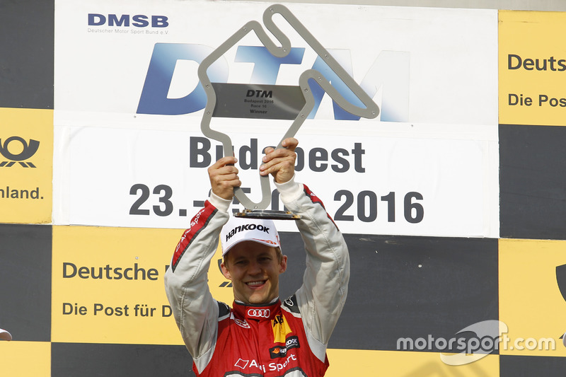 Podium: Sieger Mattias Ekström, Audi Sport Team Abt Sportsline, Audi A5 DTM