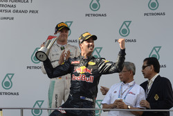 Podium: race winner Daniel Ricciardo, Red Bull Racing