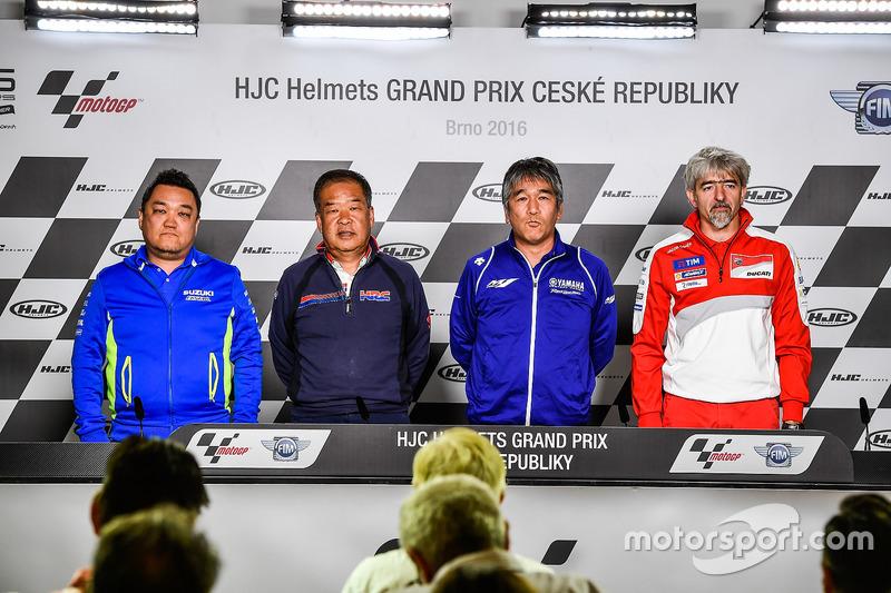 Ken Kawauchi, Team Manager Suzuki Ecstar, Shuhei Nakamoto, Vice Presidente Esecutivo HRC, Kouichi Tsuji, General Manager Motorsports Development Division, Yamaha Motor, Gigi Dall'Igna, General Manager Ducati Team