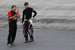 Chris Gabehart, crew chief, and Erik Jones, Joe Gibbs Racing Toyota