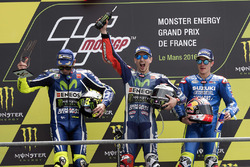 Podium: winner Jorge Lorenzo, Yamaha Factory Racing, second place Valentino Rossi, Yamaha Factory Ra