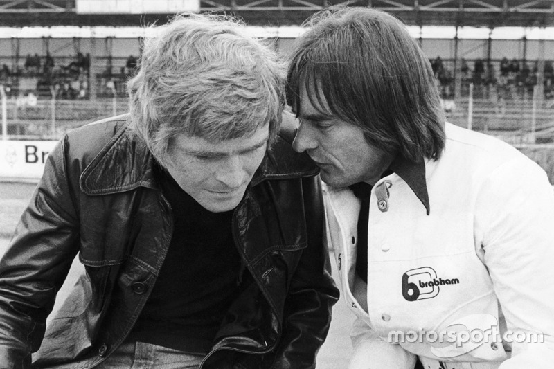 Bernie Ecclestone, dueño de Brabham team con Max Mosley, March Engineering team manager